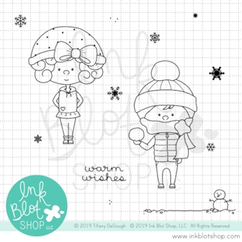 Ink Blot Shop Clear Stamp Set SNOW KIDS inbl083