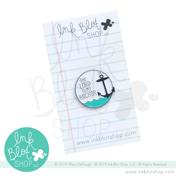 Ink Blot Shop Enamel Pin THE LORD IS MY ANCHOR ibpn009 zoom image