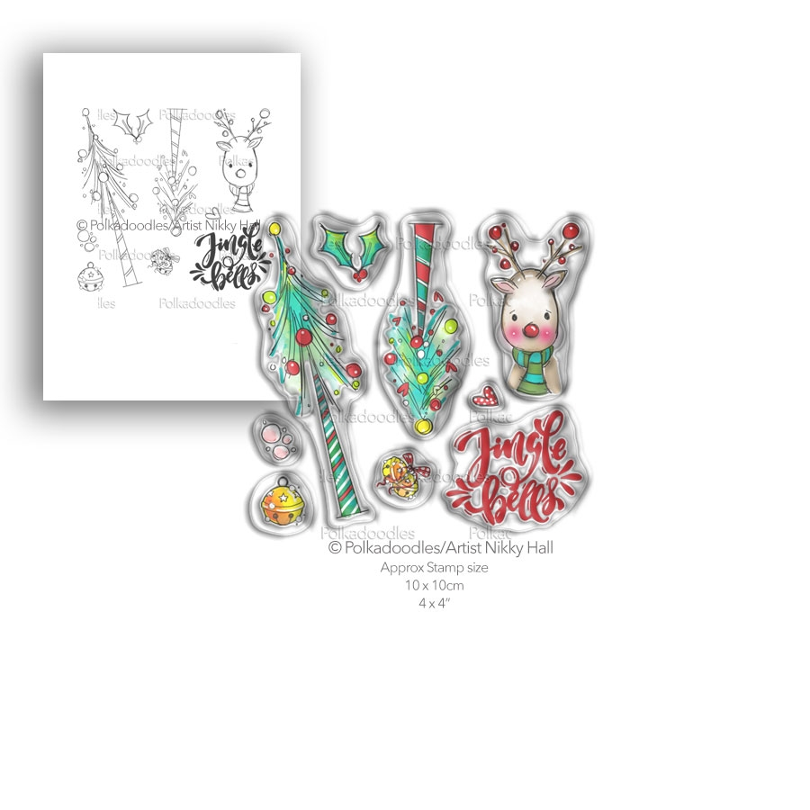 Polkadoodles JINGLE BELLS Clear Stamp Set pd7990 zoom image