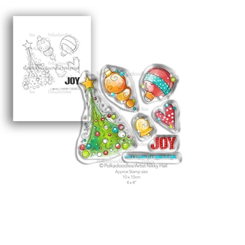 Polkadoodles DECK THE HALLS Clear Stamp Set pd7992