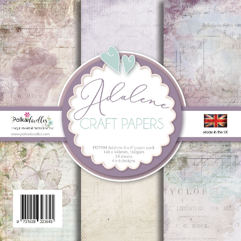 Polkadoodles ADALENE FRENCH VINTAGE SHABBY CHIC 6x6 Paper Pack pd7994 zoom image