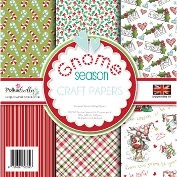 Polkadoodles GNOME SEASON 6x6 Paper pack pd7969