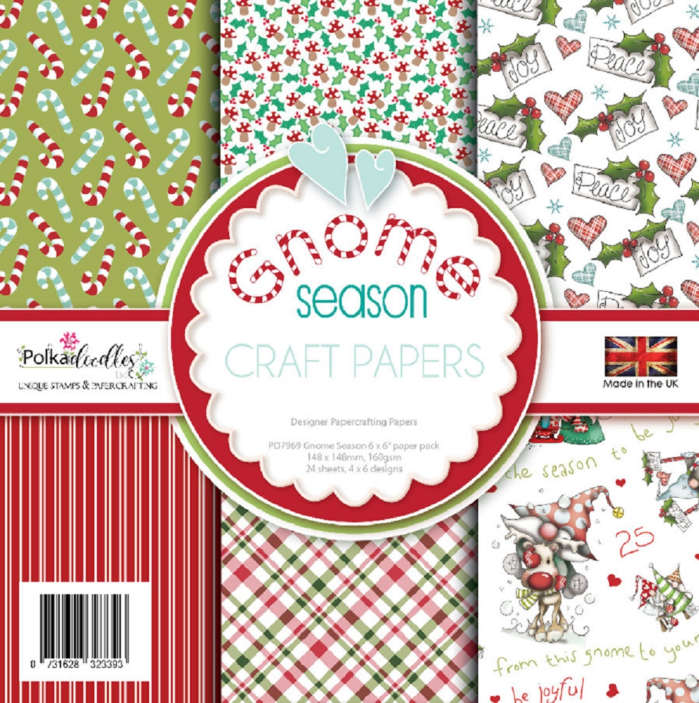 Polkadoodles GNOME SEASON 6x6 Paper pack pd7969 zoom image