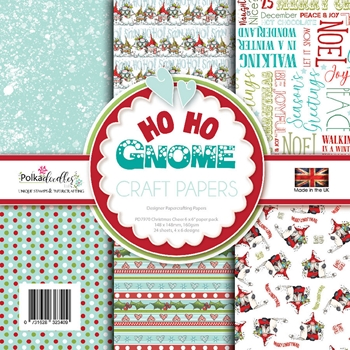 Polkadoodles HO HO GNOME 6x6 Paper pack pd7970