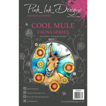 Pink Ink Designs COOL MULE A5 Clear Stamps pi053