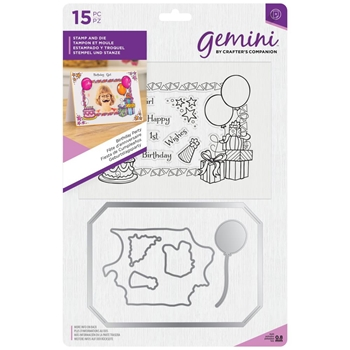 Crafter's Companion BIRTHDAY PARTY Gemini Stamp And Die Set gem-std-bdayp