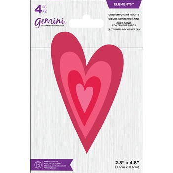 Crafter's Companion CONTEMPORARY HEARTS Gemini Die Set gem-md-ele-conhea