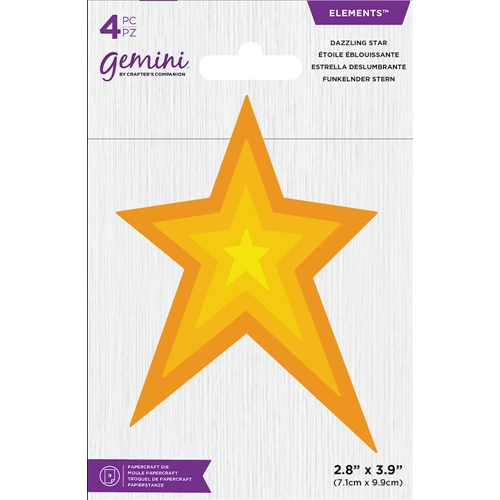 Crafter's Companion DAZZLING STAR Gemini Die Set gem-md-ele-dstar Preview Image