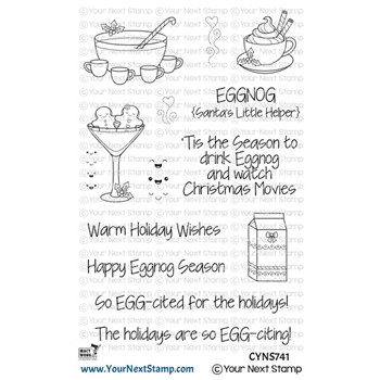 Your Next Stamp HAPPY EGGNOG SEASON Clear cyns741
