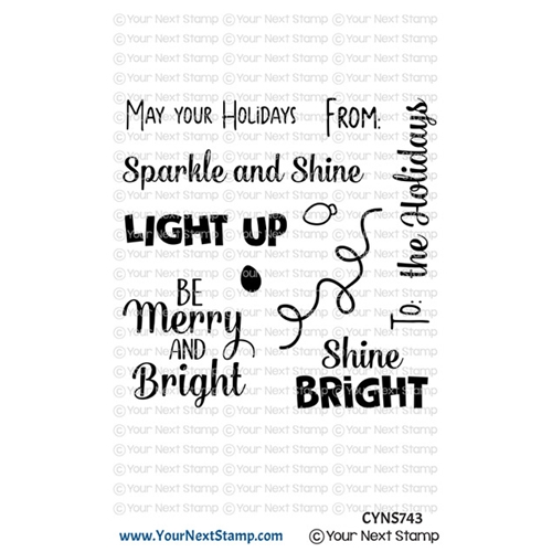 Your Next Stamp HOLIDAY LIGHTS SENTIMENTS Clear cyns743 Preview Image