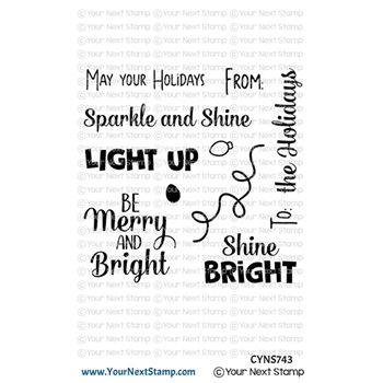 Your Next Stamp HOLIDAY LIGHTS SENTIMENTS Clear cyns743