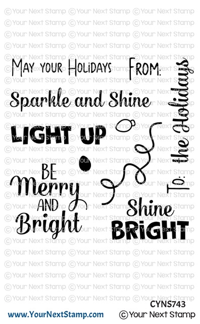 Your Next Stamp HOLIDAY LIGHTS SENTIMENTS Clear cyns743 zoom image