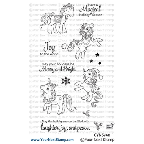 Your Next Stamp HOLIDAY PONIES Clear cyns740 Preview Image
