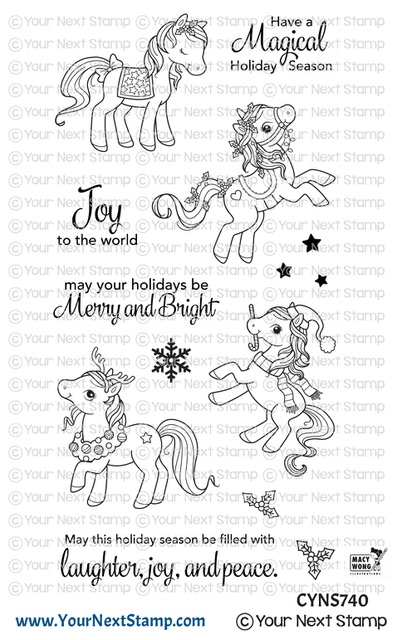 Your Next Stamp HOLIDAY PONIES Clear cyns740 zoom image