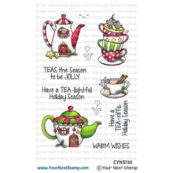Your Next Stamp HOLIDAY TEA Clear cyns735