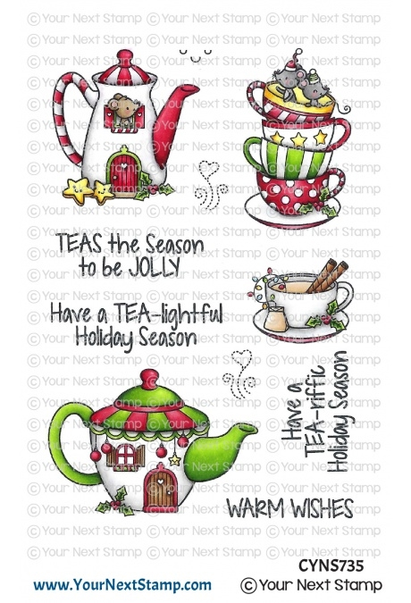 Your Next Stamp HOLIDAY TEA Clear cyns735 zoom image
