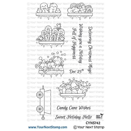 Your Next Stamp SANTA EXPRESS TRAIN CARTS TWO Clear cyns742 Preview Image