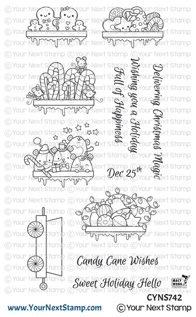 Your Next Stamp SANTA EXPRESS TRAIN CARTS TWO Clear cyns742 zoom image