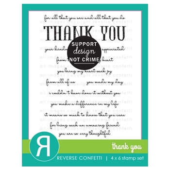 Reverse Confetti THANK YOU Clear Stamps