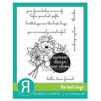 Reverse Confetti THE BEST DAYS Clear Stamps