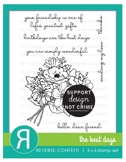 Reverse Confetti THE BEST DAYS Clear Stamps zoom image