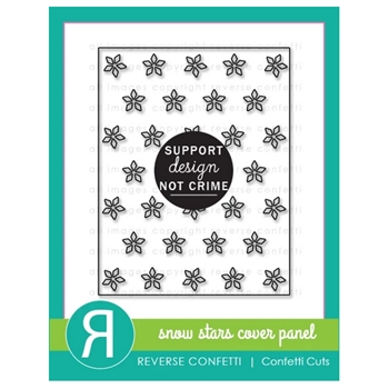 Reverse Confetti Cuts SNOW STARS COVER PANEL Die