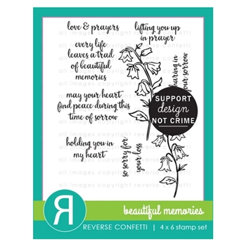 Reverse Confetti BEAUTIFUL MEMORIES Clear Stamps