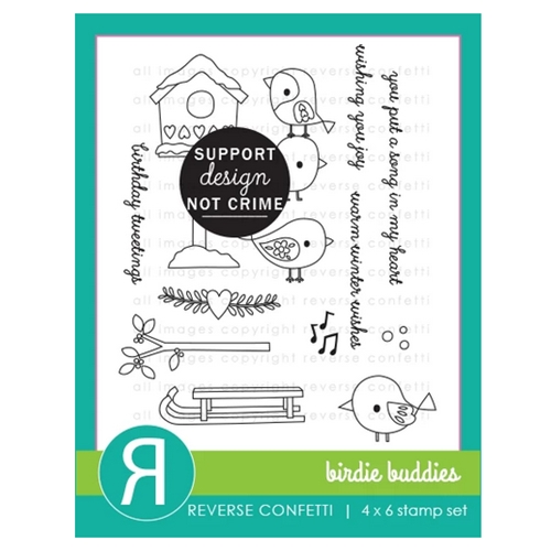 Reverse Confetti BIRDIE BUDDIES Clear Stamps  Preview Image