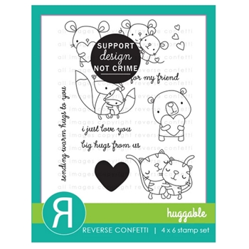 Reverse Confetti HUGGABLE Clear Stamps