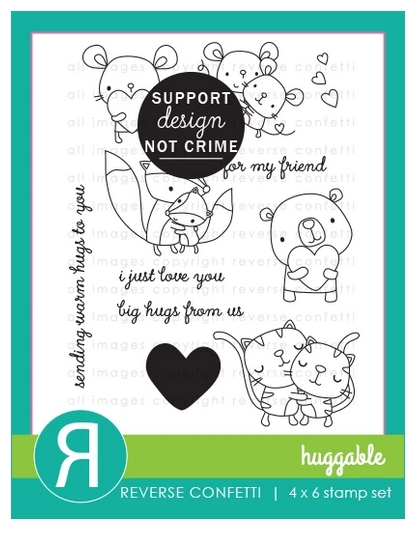 Reverse Confetti HUGGABLE Clear Stamps zoom image