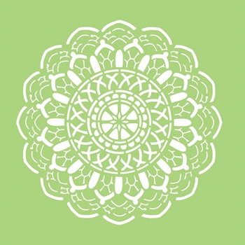 Kaisercraft CROCHET DOILY 6x6 Inch Stencil IT499