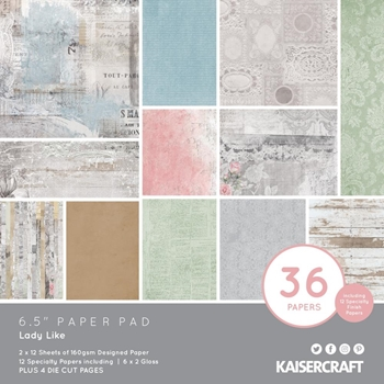 Kaisercraft LADY LIKE 6.5 Inch Paper Pad PP1080