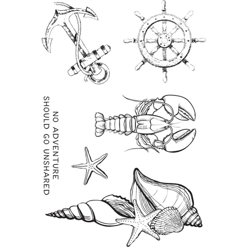Kaisercraft UNCHARTED WATERS Clear Stamps CS373 Preview Image