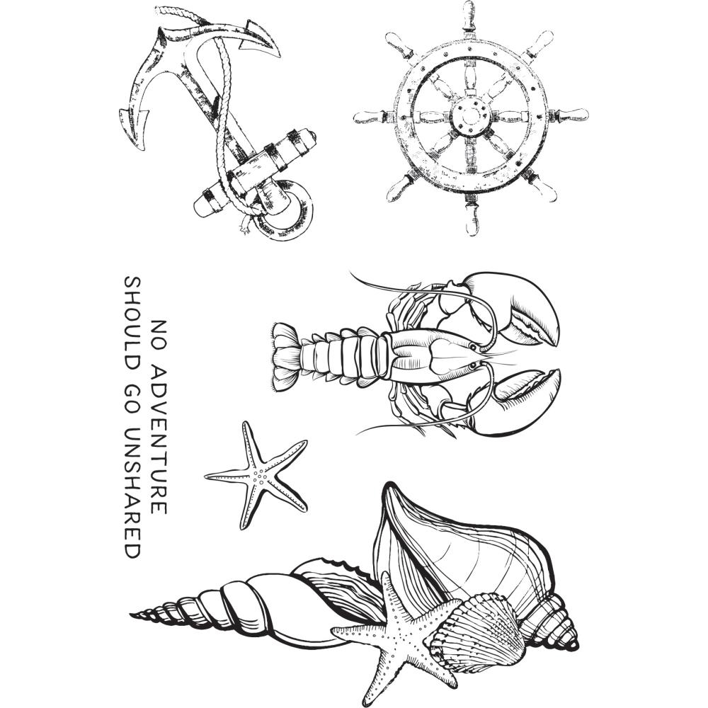 Kaisercraft UNCHARTED WATERS Clear Stamps CS373 zoom image
