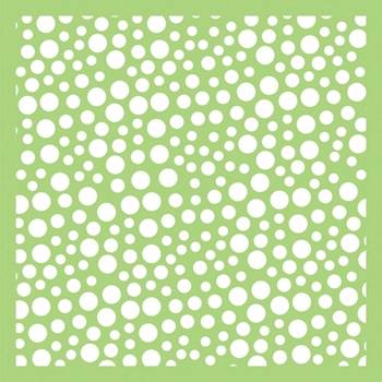 Kaisercraft BUBBLES 6x6 Inch Stencil IT498