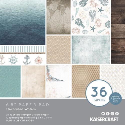 Kaisercraft UNCHARTED WATERS 6.5 Inch Paper Pad PP1079 Preview Image