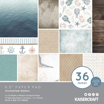 Kaisercraft UNCHARTED WATERS 6.5 Inch Paper Pad PP1079