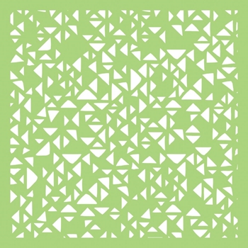 Kaisercraft TINY TRIANGLES 6x6 Inch Stencil IT501