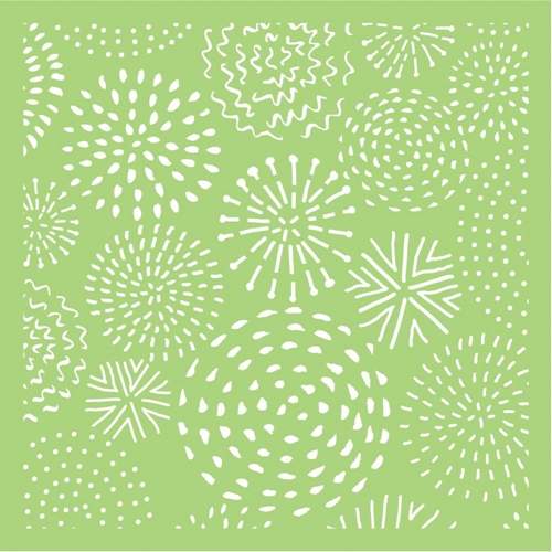 Kaisercraft FIREWORKS 6x6 Inch Stencil IT500 Preview Image