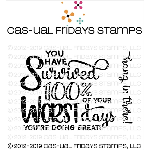 CAS-ual Fridays DOING GREAT Clear Stamps CFS1909 Preview Image