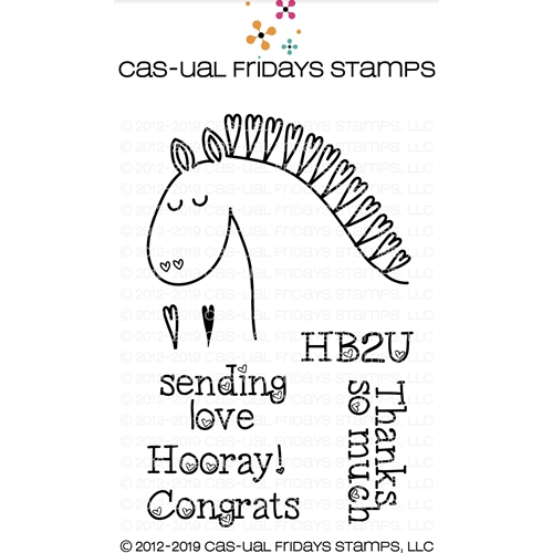 CAS-ual Fridays HEARTY HORSE Clear Stamps CFS1907* Preview Image