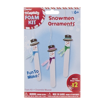 Darice FOAM SNOWMEN ORNAMENTS Foamies Kit 30012781