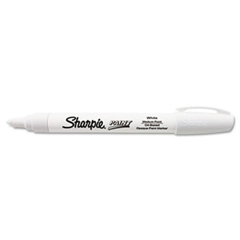 Sharpie WHITE PAINT PEN Oil Based Medium 355583