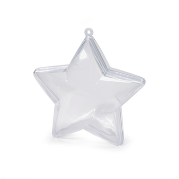 Darice PLASTIC STAR ORNAMENT 90 mm 114201