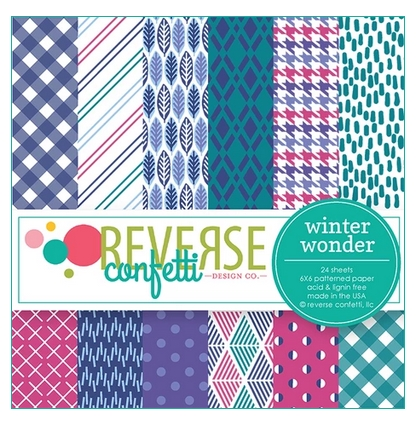 Reverse Confetti 6x6 Paper Pad WINTER WONDER Preview Image