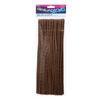 Darice BROWN CHENILLE STEMS 100 Piece 108450
