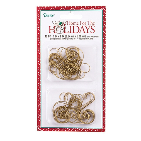 Darice GOLD WIRE S HOOK 40 Piece 2513635 zoom image