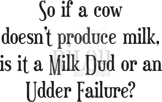 Riley And Company Funny Bones MILK DUD Cling Rubber Stamp RWD-764 zoom image