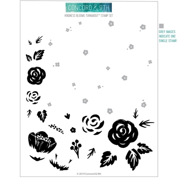 Concord & 9th KINDNESS BLOOMS TURNABOUT Clear Stamp Set 10727