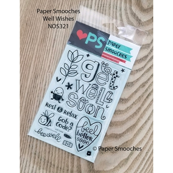 Paper Smooches WELL WISHES Clear Stamps NOS321